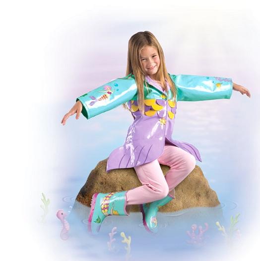 Kidorable raincoat mermaid